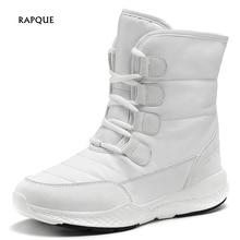 Fashion 2019 Women's Snow Boots Women with Fur Warm Plush White Winter Boots Women High Top Woman Winter Shoes Female Big Size все цены