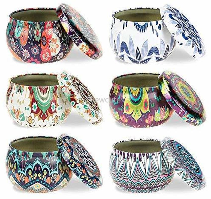 6 Pcs Candle Tin Jars DIY Candle Making Kit Holder Storage Case For Dry Storage Spices Camping  Party Favor And Sweets Gifts