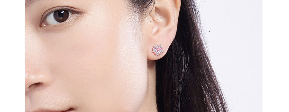 H55242188c3524a7bad68c508764e9f4eD - WEGARASTI Silver 925 Jewelry Earrings Woman Pink Cherry Earring 925 Sterling Silver Earrings Wedding Earring