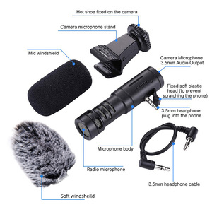 Image 2 - Mamen Telefoon Microfoon Mini Draagbare 3.5 Mm Condensor Telefoon Video Camera Interview Microfoon Met Mof Voor Iphone Samsung Mic