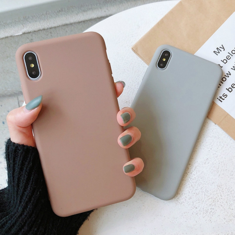 Luxury Candy Solid Color thin Case For Samsung Galaxy J4 J6 Plus J8 2018 J3 J5 J7 2016 2017 J2 J5 J7 Grand Prime Soft Phone Case image