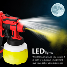 20V Cordless Electric Spray Machine Home Indoor Outdoor Office Hotel sterilizzazione Spray Utility Tool con luce LED tre ugelli