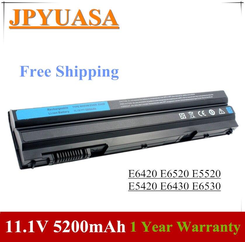 7XINbox 11.1V 5200mAh Laptop Battery T54FJ M5Y0X N3X1D P9TJ0 For Dell Latitude E6420 E6520 E5520 E5420 E6430 E6530 NHXVW P8TC7