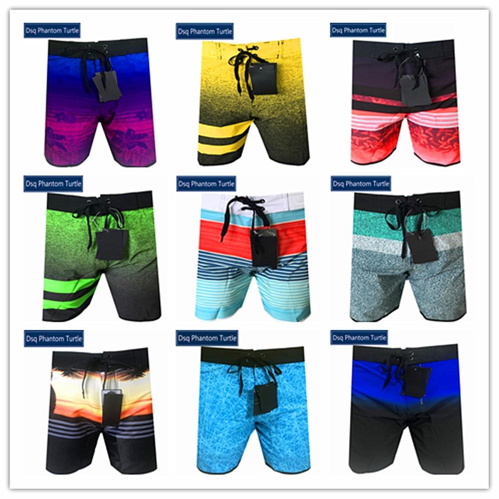 Free Shipping 2020 Brand Fashion Dsq Phantom Turtle Beach Board Shorts Men Elastic Spandex Swimwear Male Stretch Sportswear S-XL