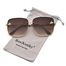 Женские квадратные солнцезащитные очки gold bee винтажные градиентные
