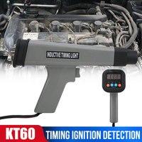 Mais novo kt60 carro digital indutivo sincronismo luz ferramenta testador de ignição do motor automóvel para 12v carros