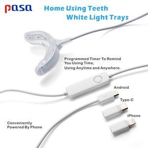 Image 2 - Sıcak! Taşınabilir akıllı soğuk mavi işık LED diş beyazlatıcı cihaz diş beyazlatma jeli kiti 2 port Android IOS için diş beyazlatma