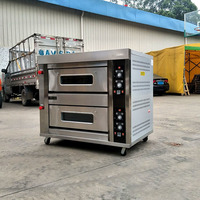 ZBB 204D Cake Bread Electric Oven 2 Layer 4 Pan Gas Oven Double Commercial Pizza Oven Baking Equipment Kitchen Appliances