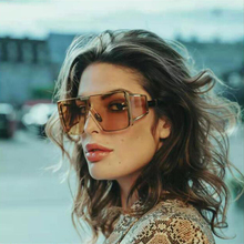 Sunglasses Women Goggles Driving Modern Square Oversized Color Vintage New-Fashion Brand