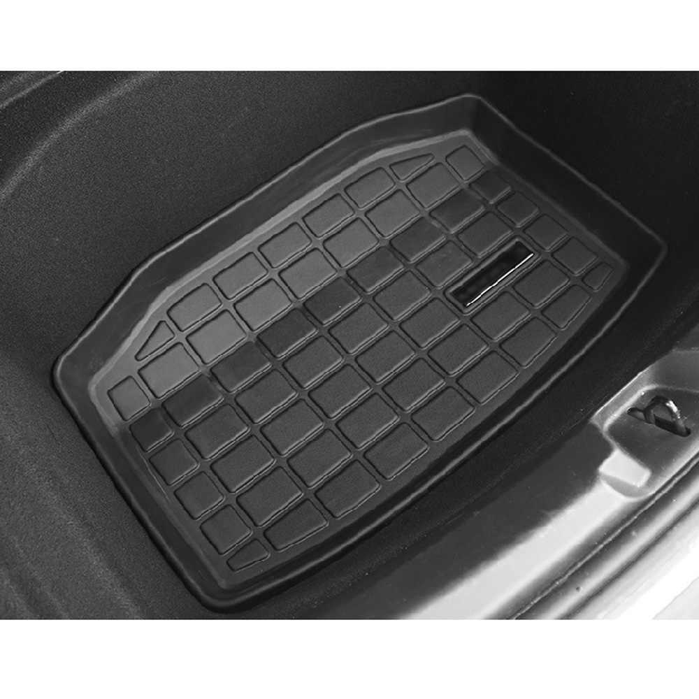 Imperméable à l'eau voiture arrière plateau de chargement coffre tapis antidérapant TPE pour Tesla modèle 3 2017-19