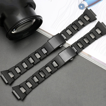 Watch Band Strap for Casio G-Shock DW-5600 DW-6900 GW-M5610 DW-9600 Series Plastic Stainless Steel Watchband Bracelet with tools 1set adapter spring bars tools kit for g shock dw 5600 dw 6900 g 5700 ga 100 kit