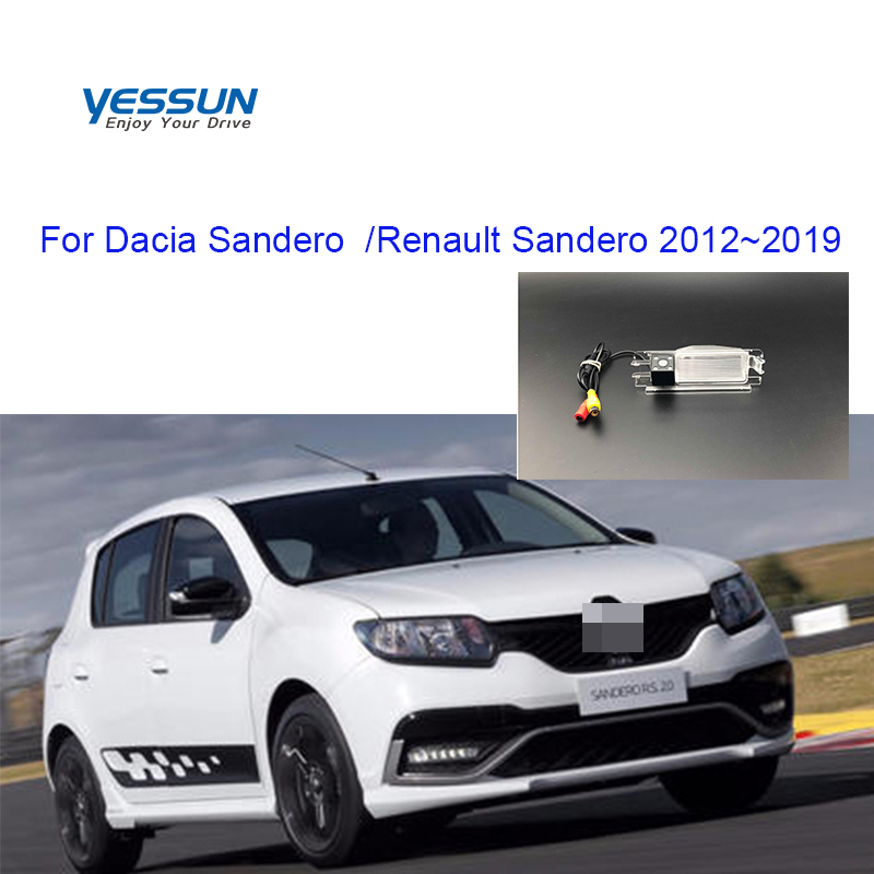 Yessun License Plate Camera For Dacia Sandero  Renault Sandero 2012~2019 Car Rear View Camera Parking Assistance