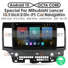 วิทยุรถยนต์สำหรับ Mitsubishi Lancer 10 2007 2013เครื่องเล่นวิดีโอมัลติมีเดียนำทาง GPS Android 10 2DIN NON DVD 4G LTE TPMS DAB +