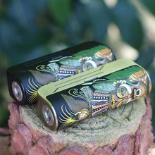 Originele Hippovape Papoea Vape Mod Kit Fit Enkele 18650/20700/21700 Batterij 100W Mini Doos Mods Met 24Mm rda Vape Tank Kit