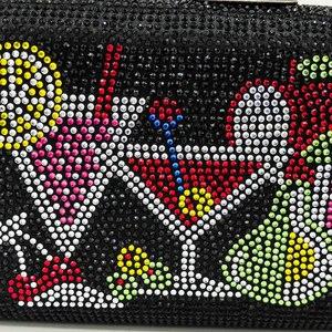 Image 2 - Boutique De FGG Bolso De mano con cristales deslumbrantes para mujer, cartera De mano para cócteles, boda, fiesta, novia