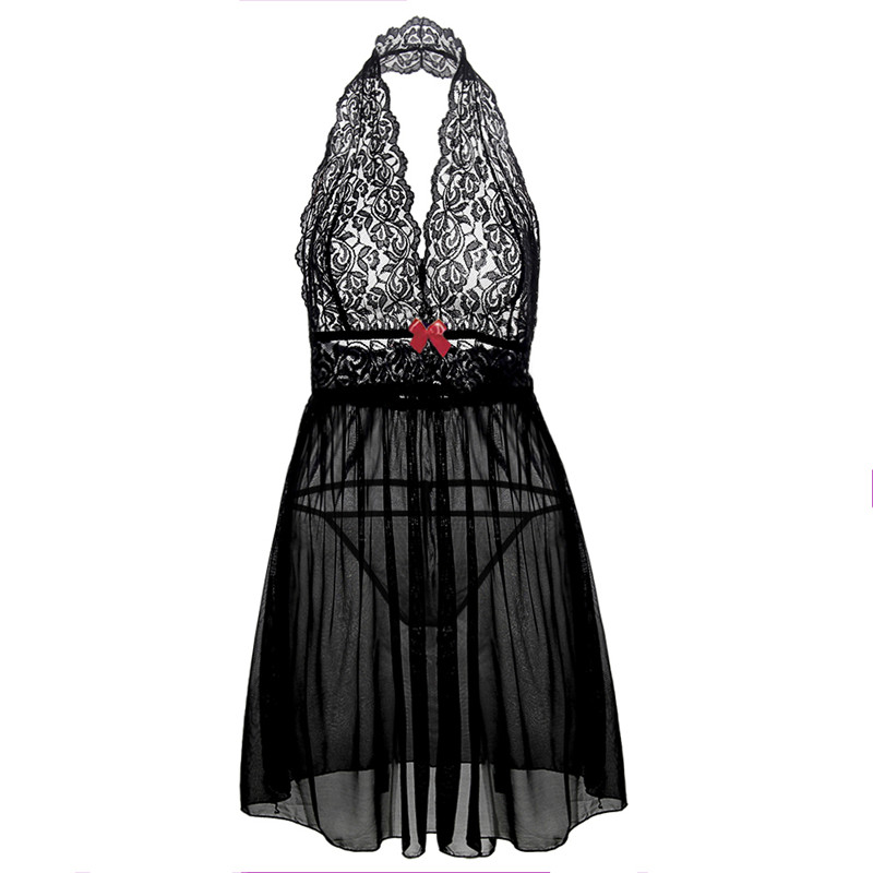 S 3xl 4xl <font><b>6XL</b></font> Plus Size Women Nightdress Erotic Underwear Hot <font><b>Sexy</b></font> <font><b>Lingerie</b></font> Babydolls Transparent Dress <font><b>Sexy</b></font> Backless Sleepwear image