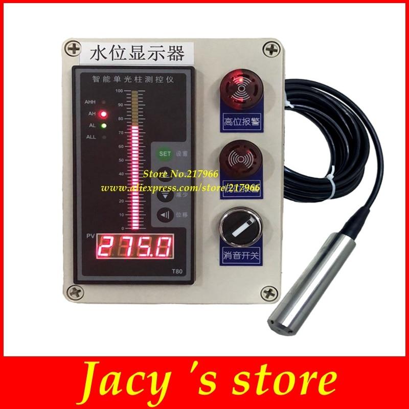 transmisor de medidor de medici/ón de Nivel de l/íquido con Pantalla LCD de Temperatura de l/íquido Yosoo Health Gear Medidor de Nivel ultras/ónico con Sensor de Nivel de Agua