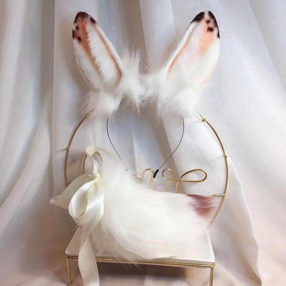 MMGG New Speckle Rabbit Ears Hairhoop Beast Style Headwear ...