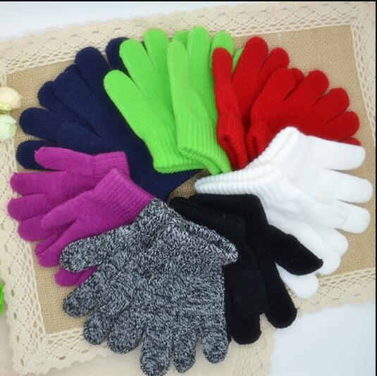 Winter Gloves Kids 3-7 Year Children Acrylic 2 Pair