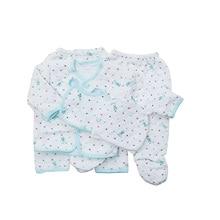 Купить с кэшбэком Baby autumn and winter baby 5 sandwich piece set newborn baby underwear clothes 100% cotton thermal set pack