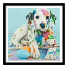 Li Loye Diamond Painting Cross Stitch Crystal Round Full Diamond Embroidery Dog Rhinestone Pattern Decor DIY Painting A00(China)