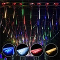 Multi-color Strip Verlichting Meteor Shower Rain Tubes Led String Kerstverlichting Bruiloft Tuin Vakantie Versieren Waterdichte Licht