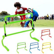 Football Training Hurdle Barrier Frame Mounted Adjustment Height For Sensitive Speed
