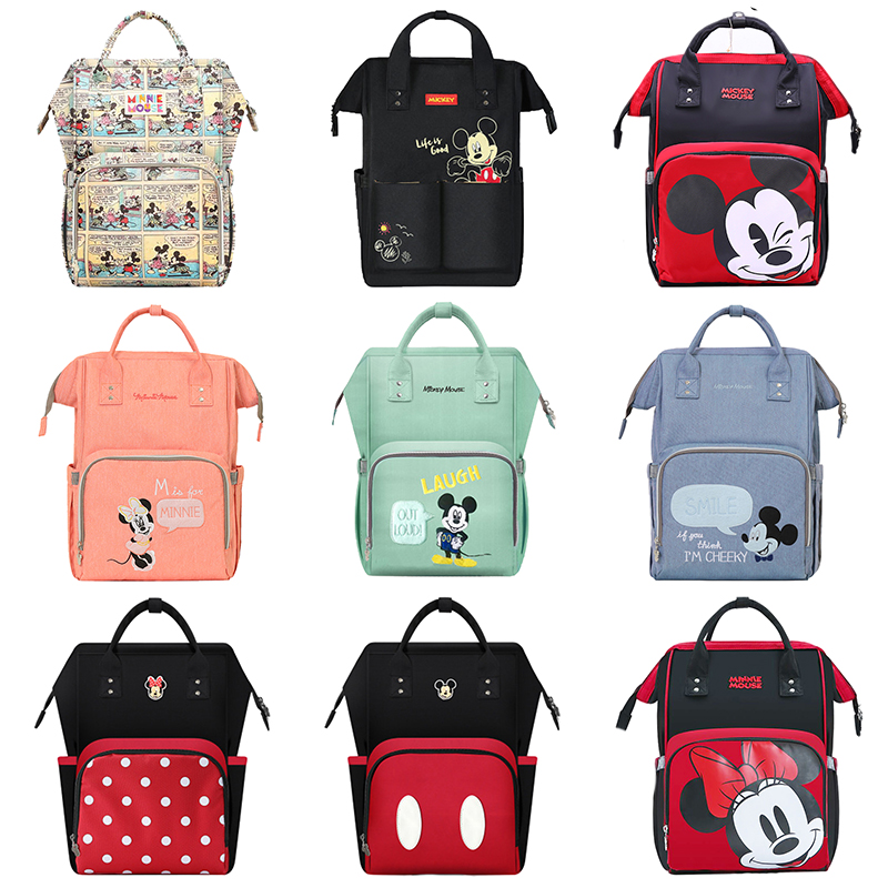 Disney Cute Diaper Bag Backpack USB Baby Bags For Mom Multifunctional Minnie Mickey Fashion Mummy Maternity Nappy Bag Brand Dot