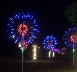 ماجيك LED الألعاب النارية ضوء التحكم عن بعد 12 وضع وظيفة مقاوم للماء عيد الميلاد عطلة حفلة الجنية ديكور على هيئة مصابيح شوارع