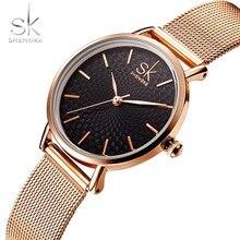 Shengke top marca de luxo relógios moda feminina relógio de quartzo à prova dwaterproof água relógios de pulso para senhora novo estilo relogio feminino