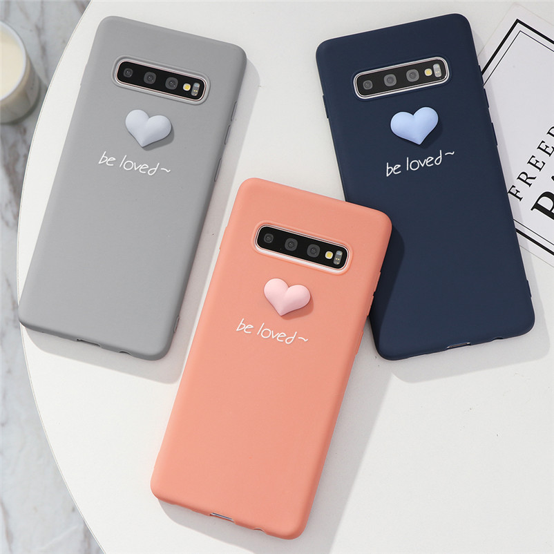 3D Love Heart Case For Caso <font><b>Samsung</b></font> Galaxy A7 A8 <font><b>A9</b></font> J4 J6 A6 Plus 2018 J3 J5 J7 Prime A5 2017 <font><b>2016</b></font> S6 Edge Note 8 9 10 TPU Cover image