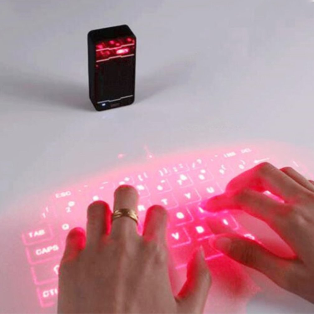 Laser Projection Keyboard Bluetooth Wireless Virtual Keyboard Mouse English QWERTY Keyboard Layout Multi-system Compatibility F1