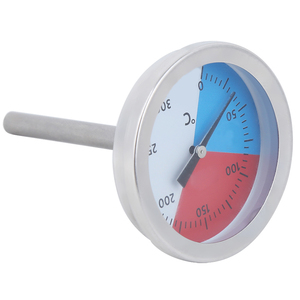 TS-BX500 0-300 Celsius Stainless Steel Thermometer Table Temperature Gauge for Outdoor Oven Grill BBQ