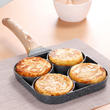4 hole Omelet Pan for Burger Eggs Ham PanCake Maker Frying Pans Creative Non stick No Oil smoke Breakfast Grill wok Cooking Pot