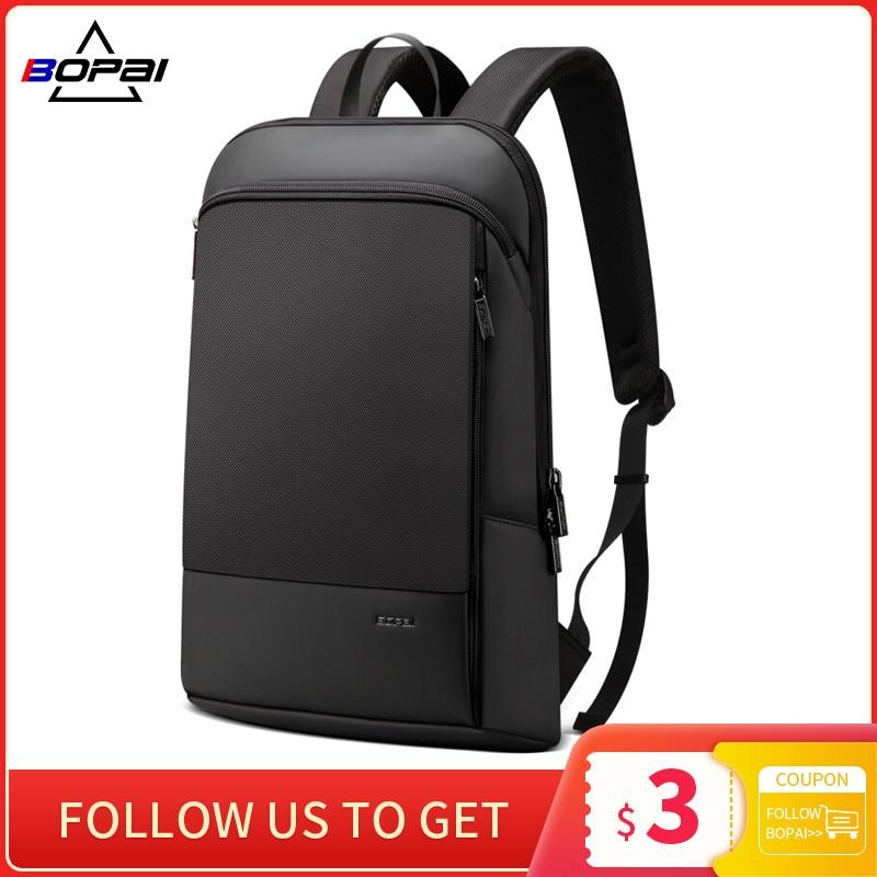 BOPAI Slim Laptop Backpack Men 15.6 Inch Office Work Women Backpack Business Bag Unisex Black Ultralight Backpack Thin Back Pack|Backpacks| - AliExpress