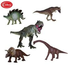 Jurassic Wild Life Dinosaur Toys Tyrannosaurus Rex Model Plastic Play Toy Set Dinosaurs PVC Action Figure Kids Gifts