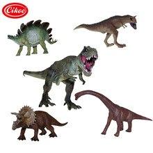 Jurassic vida selvagem dinossauro brinquedos tyrannosaurus rex modelo de plástico jogo brinquedo conjunto dinossauros pvc figura ação crianças presentes