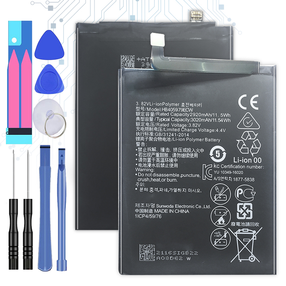 3020mAh HB405979ECW Battery For Huawei Honor 6A 8A DLI-AL10 DLI-AL10B DLI-TL20 DLI-L22 JAT-LX3 LX1 L41 L29 AL00 +Tracking Number