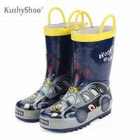 Kushyshoo crianças botas de chuva meninos crianças sapatos de chuva loverly à prova dverágua botas de borracha das crianças fora|Botas| |  -