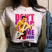 Футболка freddie mercury женская рубашка с принтом в виде королевской