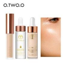 O.TWO.O – ensemble de maquillage pour le visage, 3 pièces, correcteur liquide, primaire de maquillage, huile, fond de teint, Kit cosmétique naturel