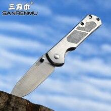 Sanrenmu yeni 7010 8CR14Mov bıçak çelik kolu açık kamp Survival avcılık maket bıçağı süper askeri EDC cep aracı 710