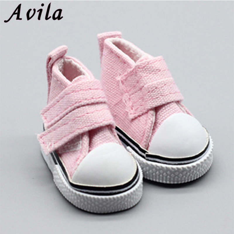 5cm Colorful Canvas Shoes For 1/6 BJD Doll Fashion Mini Shoes Doll Shoes For Russian DIY Handmade Doll Doll Accessories