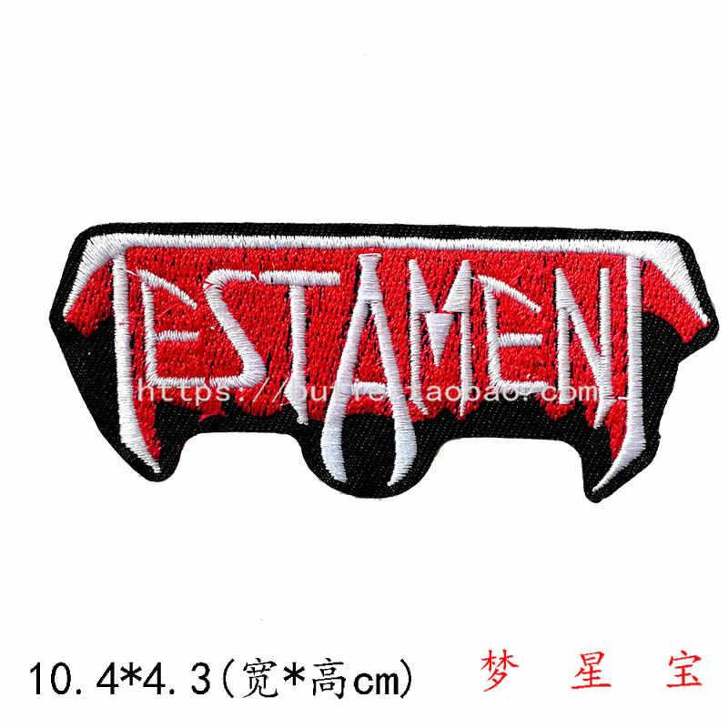 Perekat Bordir Kain Sticker Teks Lencana Punk Band Gaya Garis Tanda A283 Pakaian Sticker Patch Stiker