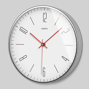 Modern Nordic Minimalist Wall Clock Living Room Bedroom Office  Creative Clock Quartz Slient Metal Home Decor Reloj Pared G5B