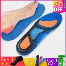 купить silicon gel orthotic Insoles sport Insoles foot care for plantar fasciitis heel spur shock pads arch Running orthopedic insole по цене 650.01 рублей