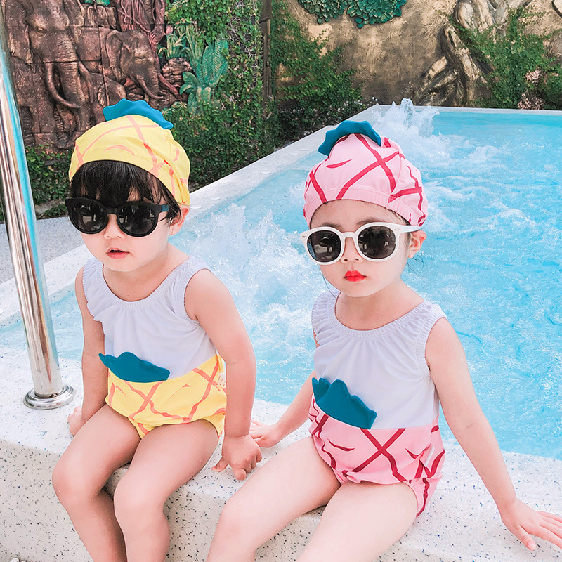 Girl'S Swimsuit INS New Style Small CHILDREN'S One-piece Infants Princess Holiday Hot Springs Swimwear Baby Boy 1-5-Year-Old