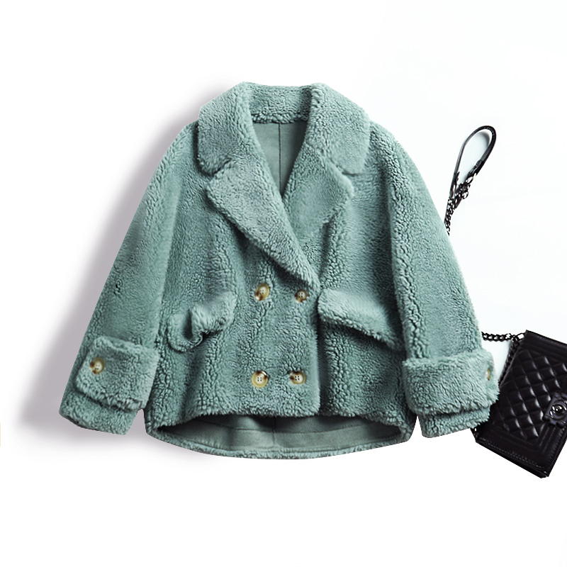 ><font><b>Article</b></font> 2019 new winter grain topcoat female zhuang short suit <font><b>collar</b></font> fur coat show thin han edition