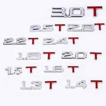 Legal 3d metal 1.6 1.8 2.0 3.0 t logotipo emblema emblema emblema estilo do carro adesivos decalques decoração acessórios do carro suprimentos produtos