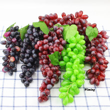 fake Grapes Bunches Artificial Fruit Grape Plastic Fake Lifelike home festive party supplies Simulation props